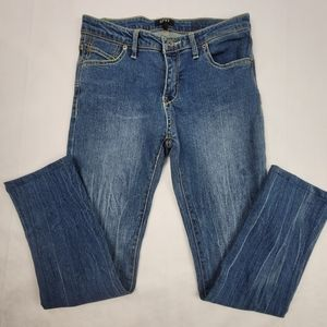 Girls DKNY Mott Straight leg wiskered denim
